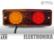 Lámpa piros-sárga hátsó LED MTZ