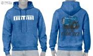 T.W. Dutra Elől-hátul nyomott mintás kapucnis pulóver (kék) (2XL)