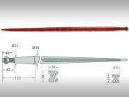 Homlokrakodó tüske L=1100 M22x1,5 RT1GP 439439022